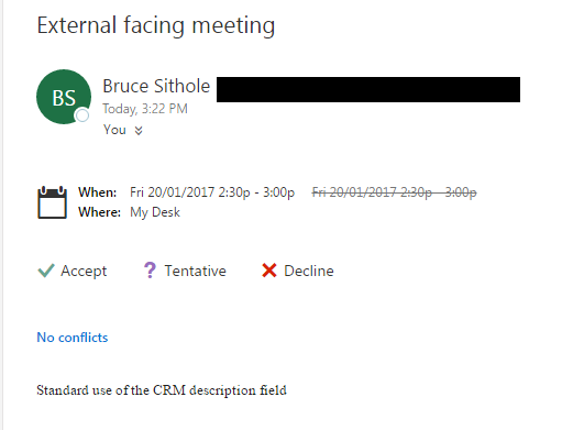 Send meeting invites with Dynamics CRM & Server Side Synchronization