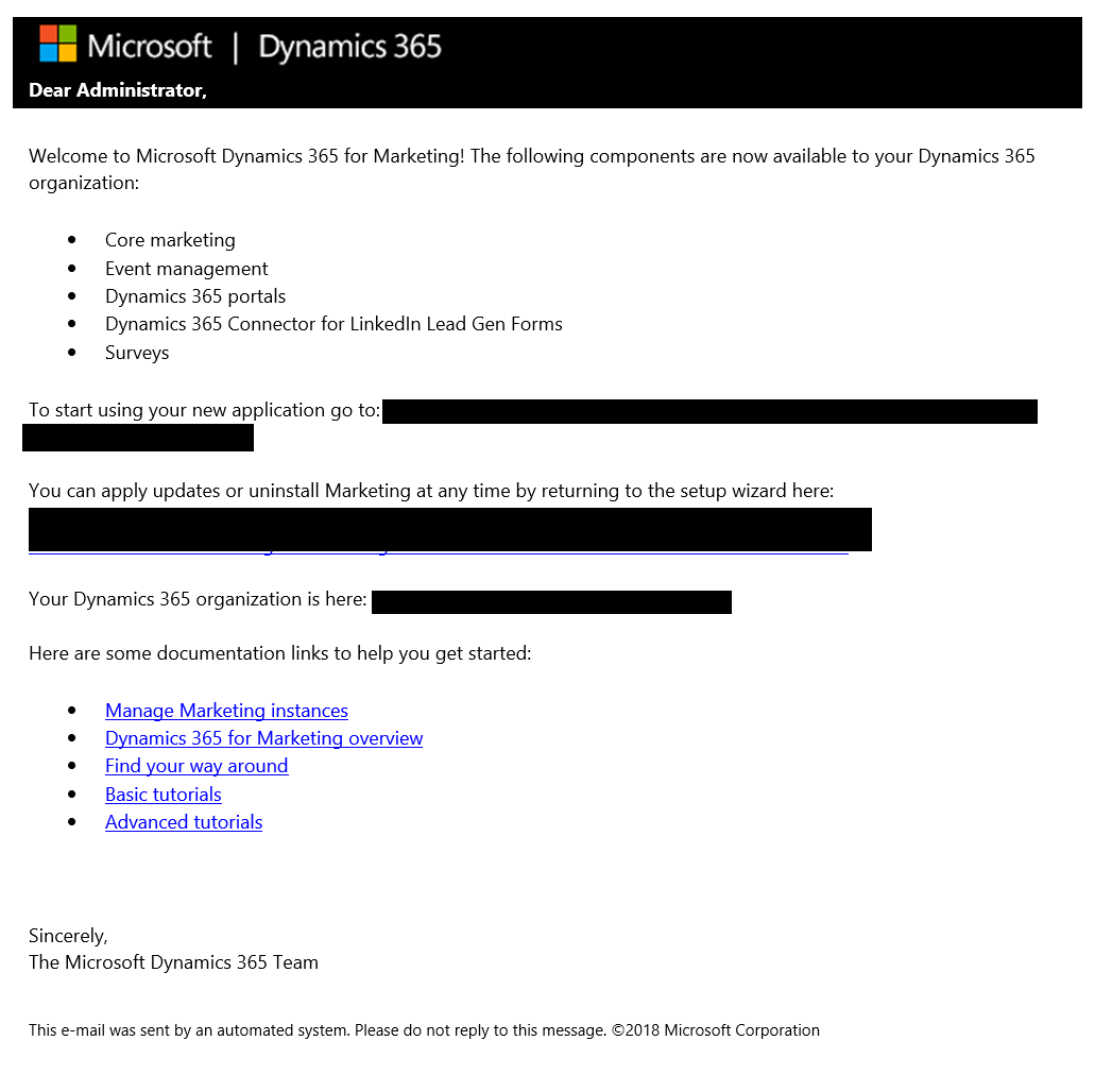 Installing Dynamics 365 Marketing in an existing environment with a portal