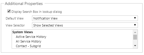 Custom views on lookup wont work without name field